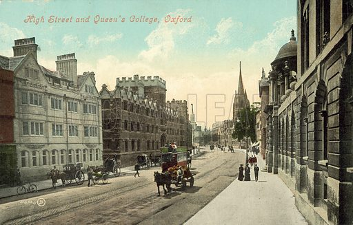 High Street and the Queen's College, Oxford