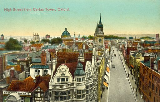 High Street from Carfax Tower, Oxford