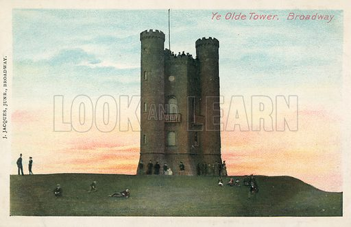 The Old Tower, Broadway, Worcestershire. Postcard, early 20th century.