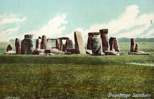 Stonehenge, Wiltshire.  Postcard, early 20th century.