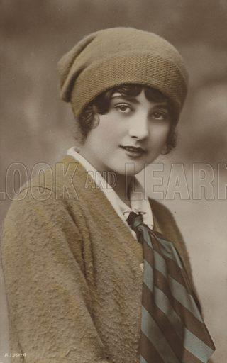Girl in a woollen cap