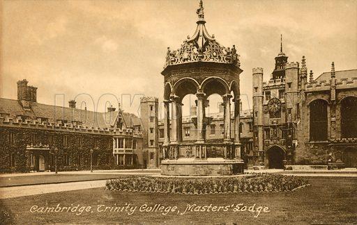 Master's Lodge, Trinity College, Cambridge. Postcard, early 20th century.