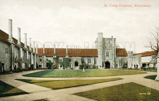 St Cross Hospital, Winchester. Postcard, early 20th century.