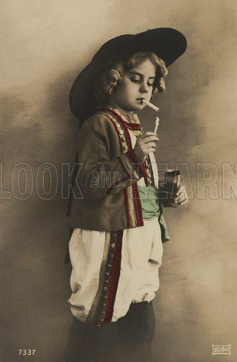 Little boy smoking