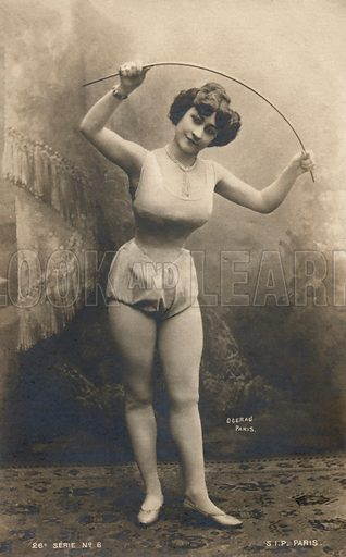 Girl with a cane