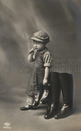 Small boy smoking