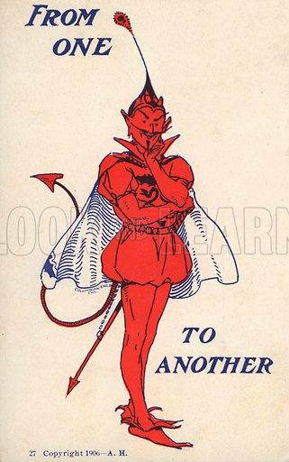 Devil in tudor dress