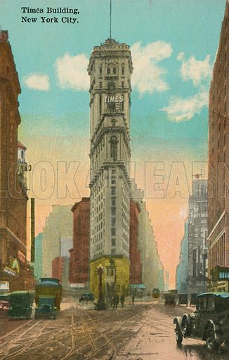 Times Building, New York City.  Postcard, early 20th century.
