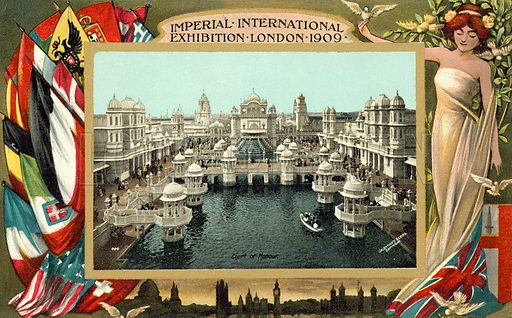 Imperial International Exhibition, London, 1909. Postcard, early 20th century.