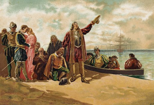 The landing of the Pilgrim Fathers in New England, 1620