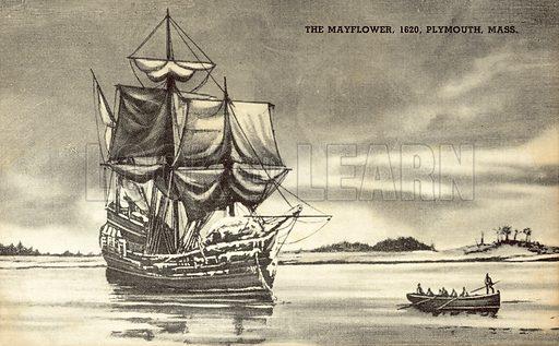 The Mayflower at Plymouth, Massachusetts, 1620
