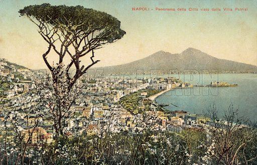 Panorama of Naples viewed from the Villa Patrizi