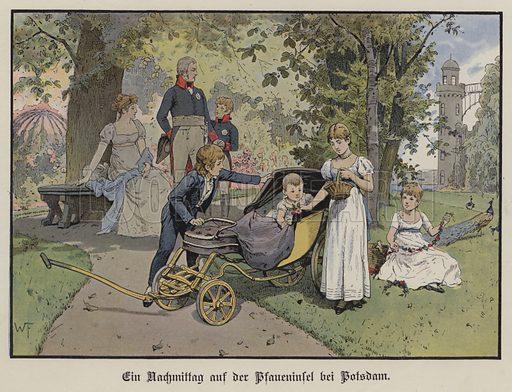An afternoon on the Pfaueninsel in Potsdam. Illustration from Die Konigin Luise (Paul Kittel, Berlin, 1896).