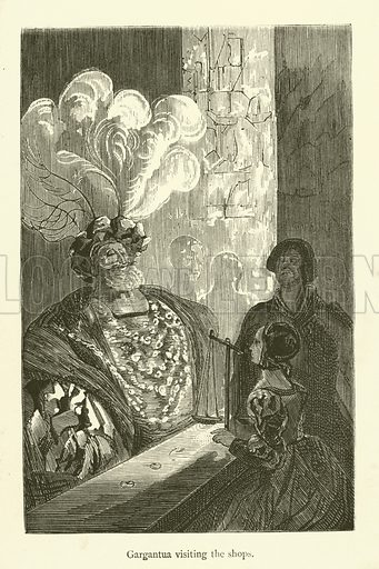 Illustration for The Works of Rabelais (Chatto and Windus, c 1890).  Note:  This is a popular edition, for which the famous engravings have been simplified, giving them an even more immediate impact.