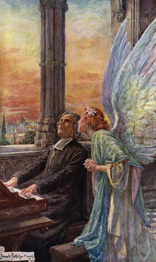 Scene from Abt Vogler. Illustration for Rabbi Ben Ezra and other Poems by Robert Browning (Hodder and Stoughton, 1916).