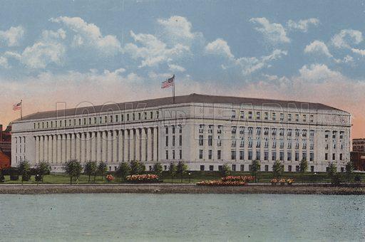 New Bureau of Engraving and Printing, Washington DC. Illustration for Washington The City Beautiful (c 1918). Colour lithographs after photographs.