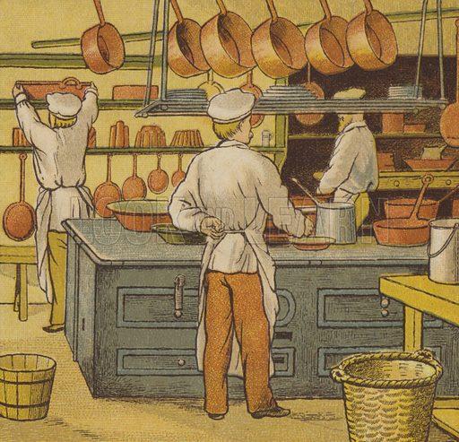 Caen: the hotel kitchen