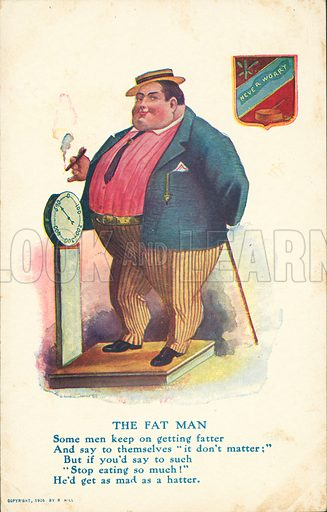 The Fat Man. Postcard, early 20th century. Dated 1906.