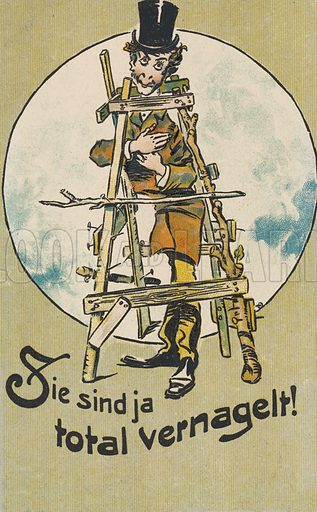 Totally nailed. Postcard, early 20th century.