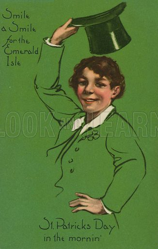 St Patrick's Day. Postcard, early 20th century.