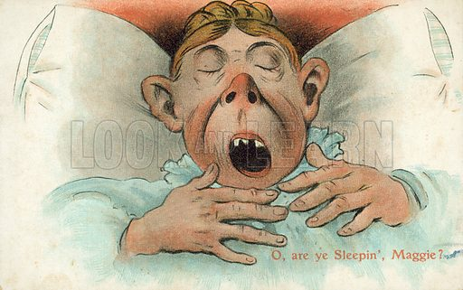 O, are ye Sleepin', Maggie? Postcard, early 20th century.