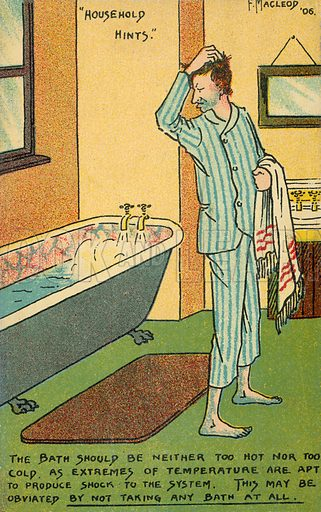 The Bath. Postcard, early 20th century.