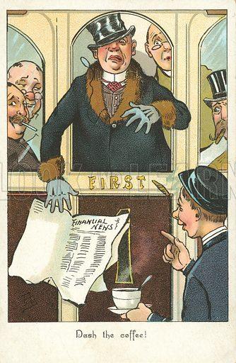 Financial news. Postcard, early 20th century.