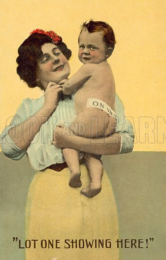 Lot One Showing Here! Postcard, early 20th century.