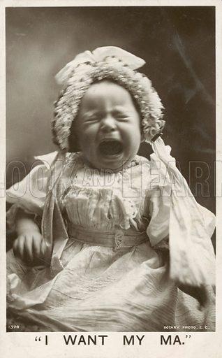 I want my ma. Postcard, early 20th century.