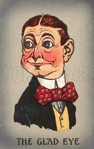 The glad eye. Postcard, early 20th century.