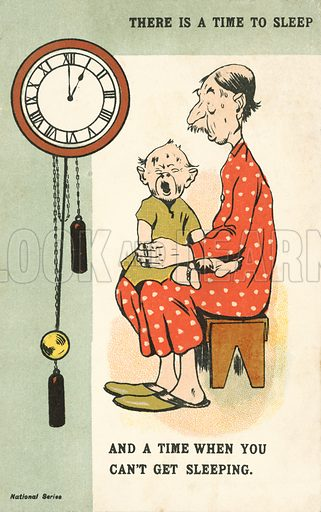 There is a time to sleep. Postcard, early 20th century.