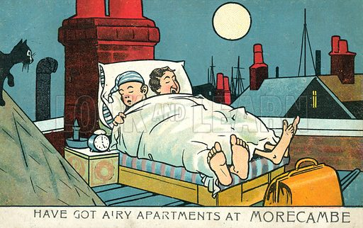 Have got airy apartments at Morecambe. Postcard, early 20th century.