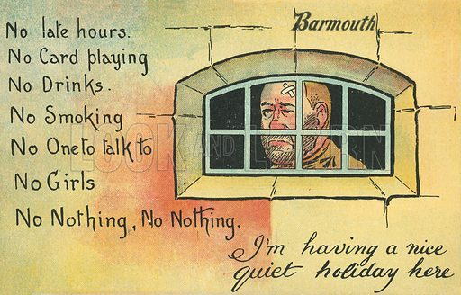 Prison. Postcard, early 20th century.