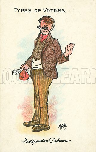 Independent Labour. Postcard, early 20th century. Signed: Fred M.