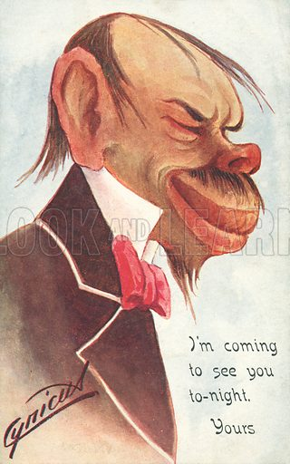 I am coming to see you tonight. Postcard, early 20th century.