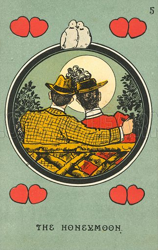 Honeymoon. Postcard, early 20th century.
