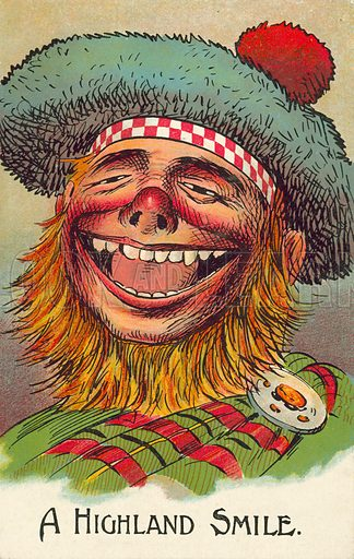A Highland Smile. Postcard, early 20th century.