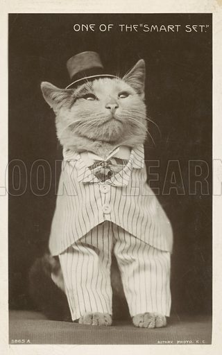 One of the smart set. Postcard, early 20th century.