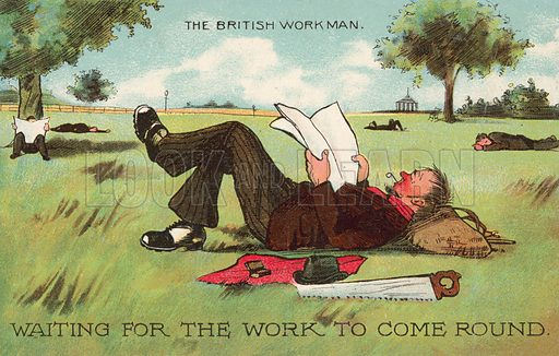 The British Workman, waiting for the work to come round