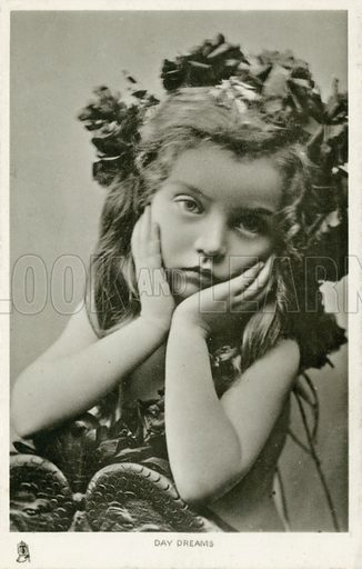 Day dreams. Postcard, early 20th century.