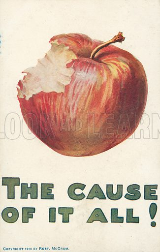 The Cause Of It All! Postcard, early 20th century.