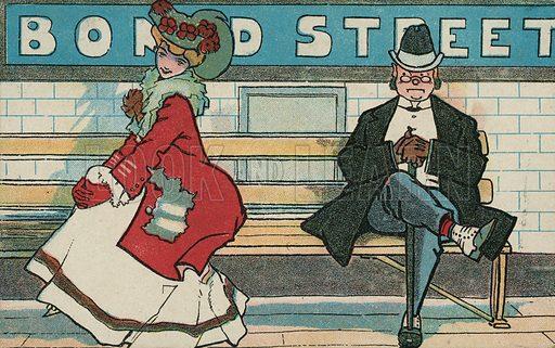 Bond Street Underground Station. Postcard, early 20th century.