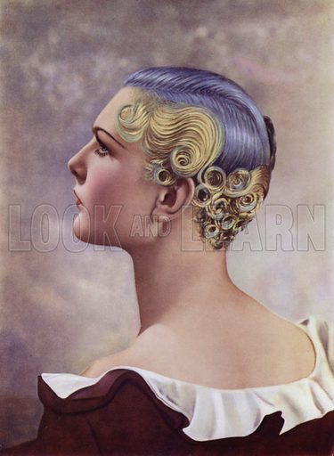 An Icall Plastic Dressing. Illustration for The Art and Craft of Hairdressing edited by Gilbert A Foan (New Era, c 1935).