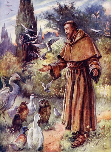 St Francis of Assisi. Illustration for Our Darlings, c 1905.