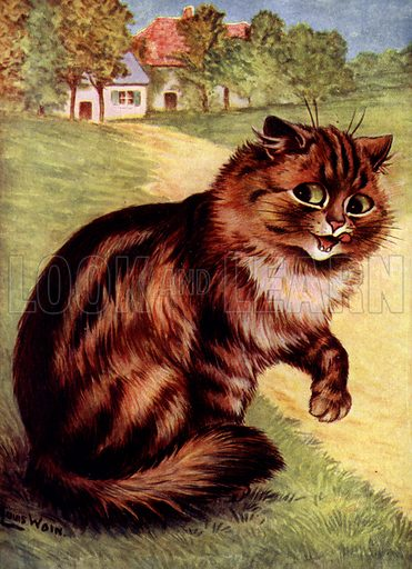 Cat. Illustration for Our Darlings, c 1905.