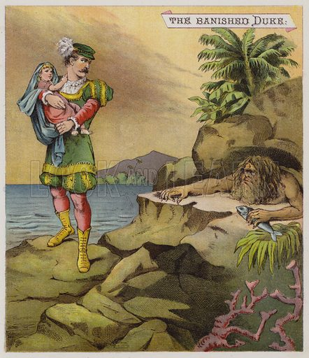 Illustration for The Tempest.  Illustration for Shakspearian Tales in Verse by Mrs Valentine (Warne, 1881).