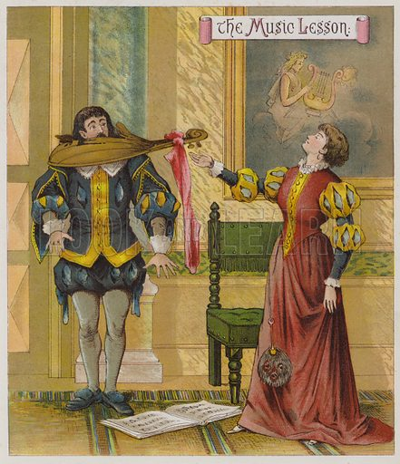 Illustration for The Taming Of The Shrew. Illustration for Shakspearian Tales in Verse by Mrs Valentine (Warne, 1881).
