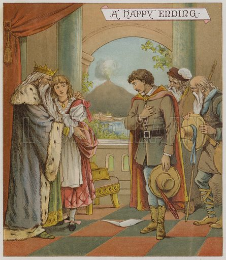 Illustration for The Winter's Tale. Illustration for Shakspearian Tales in Verse by Mrs Valentine (Warne, 1881).