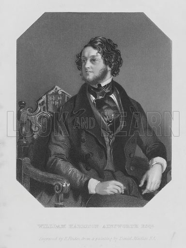 Portrait of William Harrison Ainsworth. Illustration for The Miser's Daughter by William Harrison Ainsworth (3rd edn, Parry, 1848).