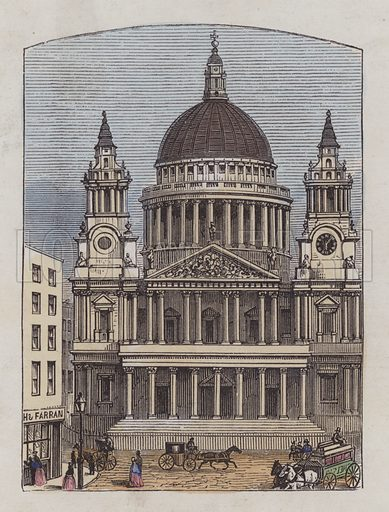 St Paul's Cathedral. Illustration for The Attractive Picture Book (Griffith and Farran, c 1867).